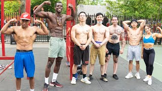 Community Calisthenics workout in NYC CHINATOWN