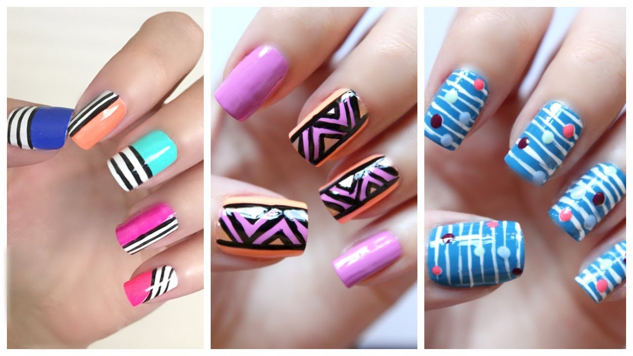 Amazing Nail Art Designs Compilation : Top amazing cute nail part art designs