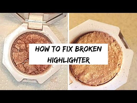 Simple How to Fix Broken Highlighter ft. Fenty Beauty Killawatt! | A Dose of Quick Fix