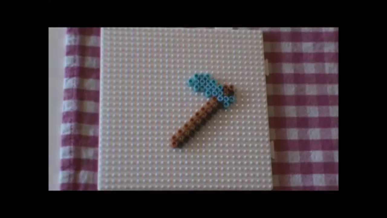 b gelperlen vorlage minecraft 5 spitzhacke perler bead