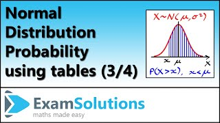 Normal distribution (3) : ExamSolutions