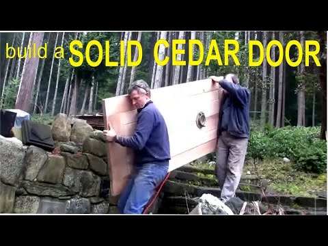 how-to-build-a-cedar-door---off-grid