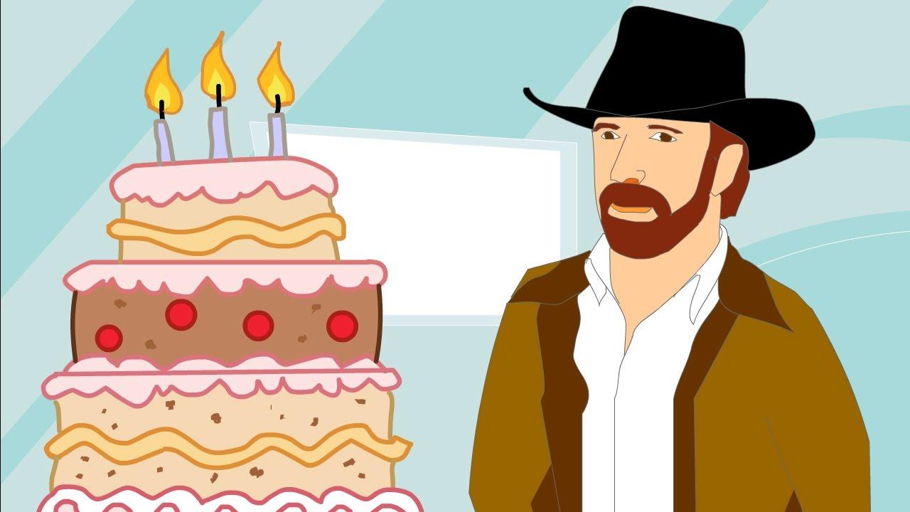 Chuck Norris Vs Birthdays Youtube