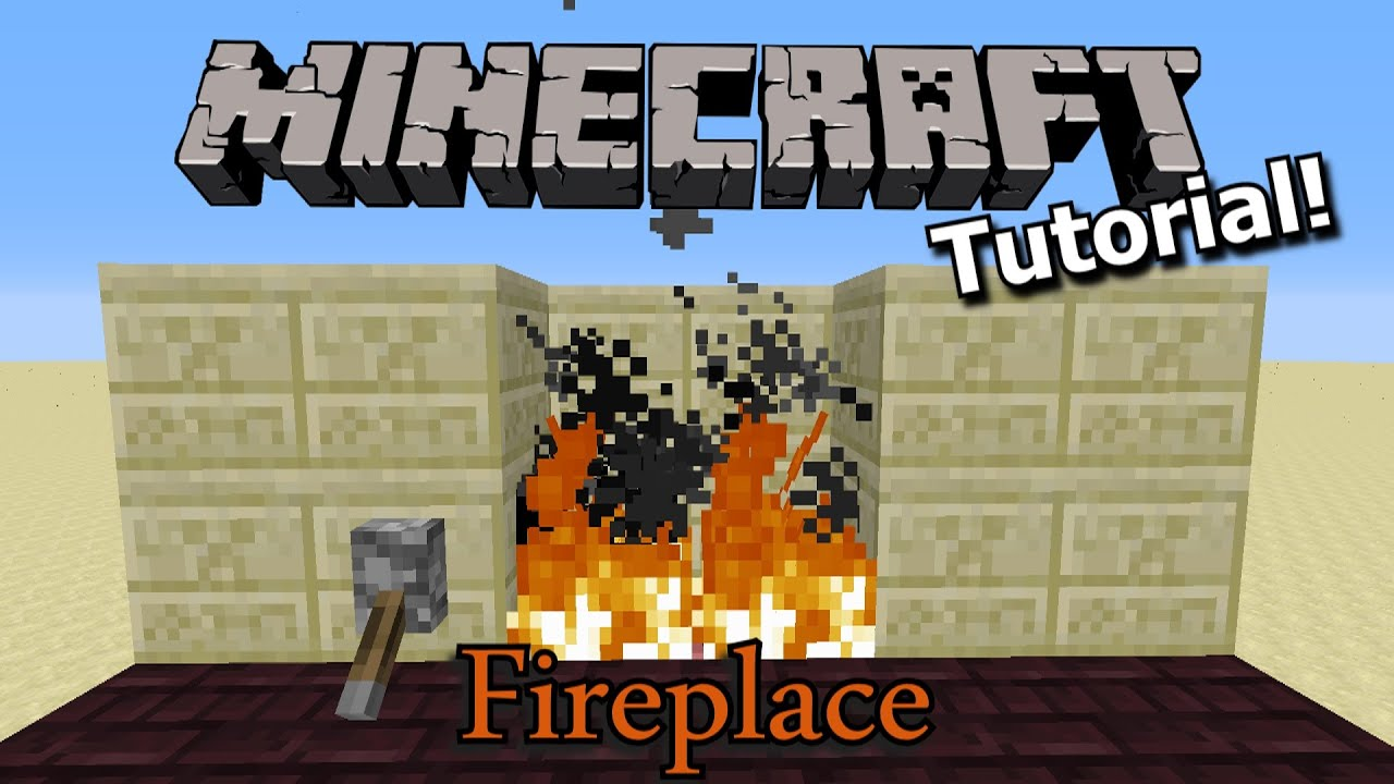 Minecraft Tutorial: 2-wide Redstone Fireplace - YouTube
