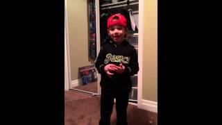 My little Luke Bryan wannabe