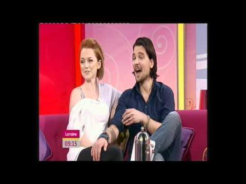 Hannah Spearritt and Andrew Lee Potts on Lorraine 24/05/2011