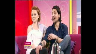 Hannah Spearritt and Andrew Lee Potts on Lorraine 24/05/2011