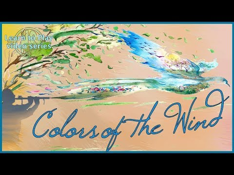 Learn To Play Colors Of The Wind On The Native American Style Flute