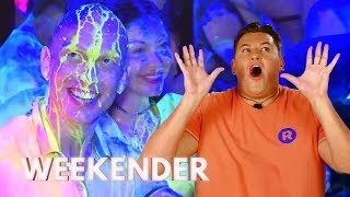 David Is in His Element at the Paint Party | Ibiza Weekender