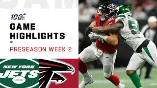 Jets vs. Falcons Preseason Week 2 Highlights | NFL 2019