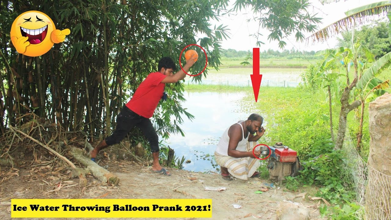 Ice Water Throwing To Head Balloon Prank 2021! Best Funny Prank | try to not laugh challenge