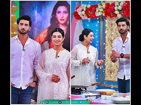 Sara Khan and Agha Ali IN Ek Nae Subha with Farah _ Pictuers _ A plus