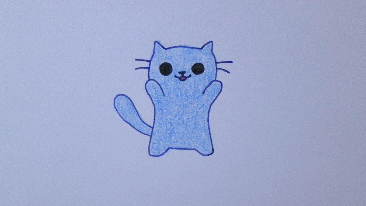 Como Desenhar Um Gatinho Fofo Youtube