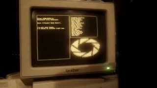 "Portal ""Still Alive"" ending credits on a real amber monochrome monitor"