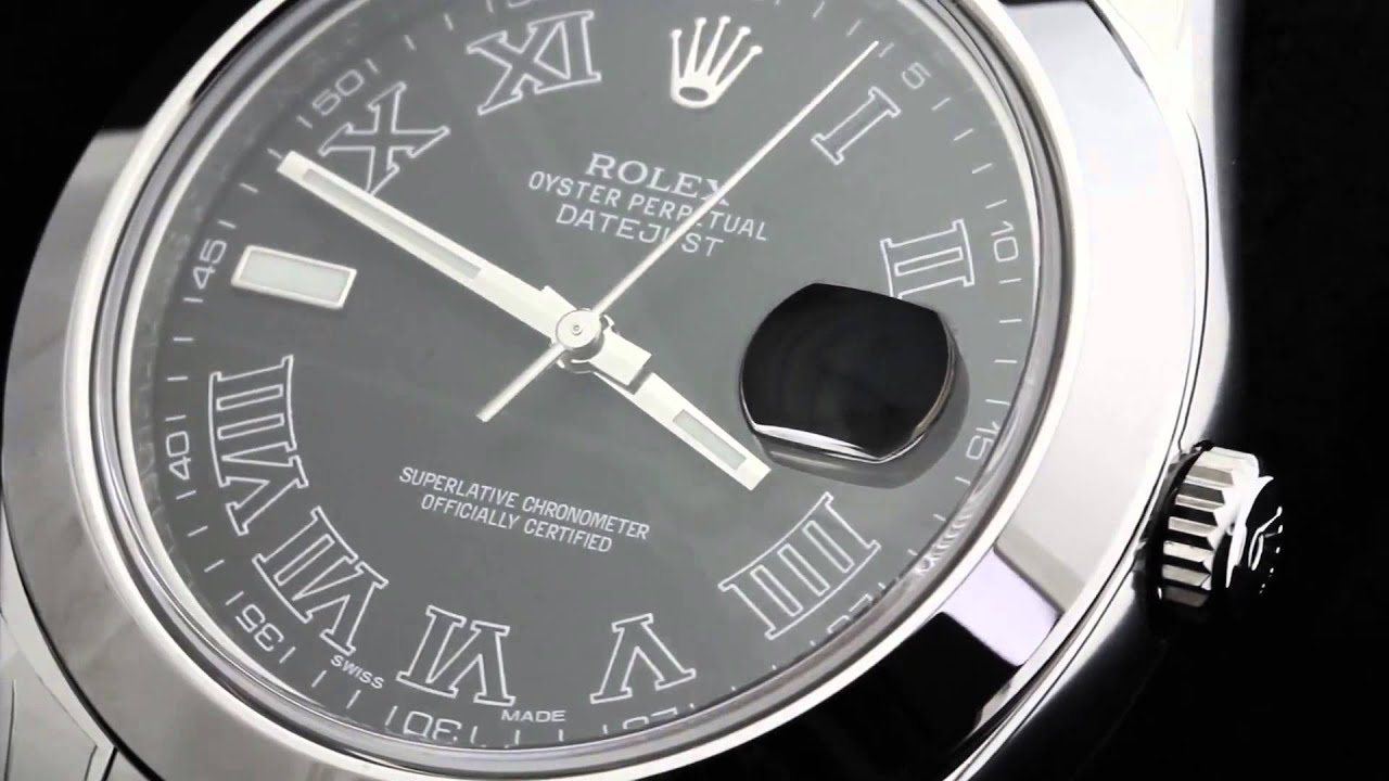 ... 41MM STAINLESS STEEL WATCH 116300 BLACK DIAL ROMAN NUMERALS - YouTube