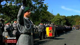 Militärisches Zeremoniell für Walter Scheel