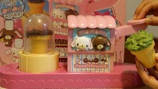 "i made Sanrio's character Sugarbunnies Air in Chocolate DIY Making Kit ""Choco Choco Pukurin"",and made two types of air chocolates(nomal and green tea ..."
