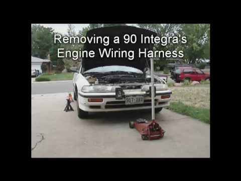 1990 integra remove engine wiring harness youtube rh youtube com