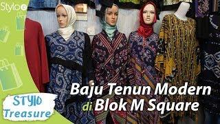 Model Baju Tenun Modern Terbaru Di Blok M Square Jakarta Atasan Wanita Gamis Outer Youtube