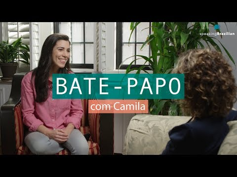 "Learn Portuguese - ""Bate-papo"" about language learning with Camila Barcelos  Speaking Brazilian"