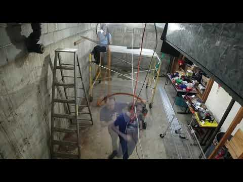 Captain's Blog 4 19 2019 Workshop Ceiling Cleaning and Conduit