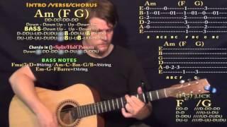 RGF Island (Fetty Wap) Guitar Lesson Chord Chart - Capo 3rd