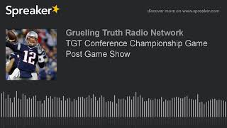 TGT Conference Championship Game Post Game Show W/Mark Cooper and Tony Pike!