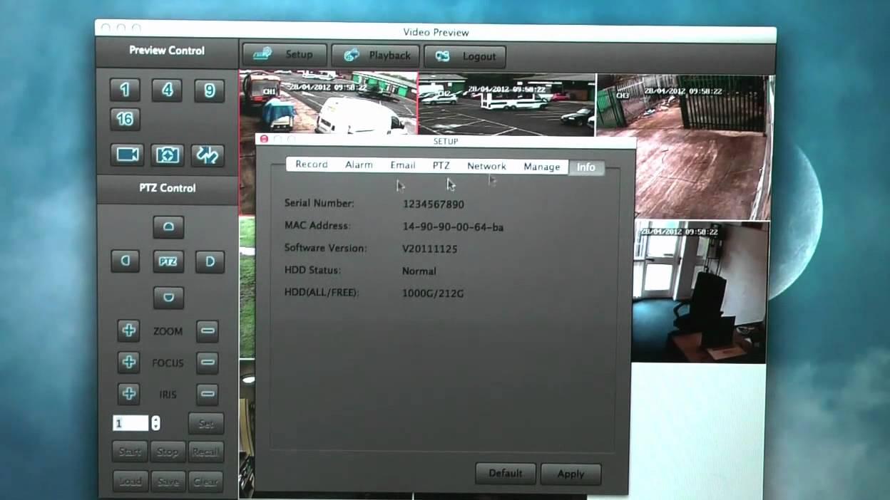 Apple Mac DVR CCTV APP