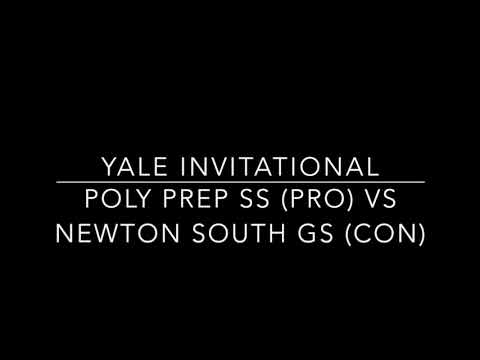 Poly Prep SS vs Newton South GS Yale 2017 Double-Octafinals