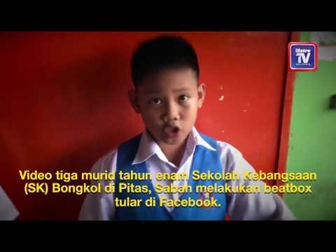Budak sekolah Sekolah Kebangsaan Bongkol power beatbox