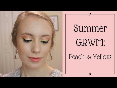 GRWM | Peach & Yellow Eyeshadow