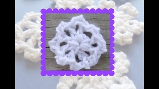 Episode 131: How To Crochet A One Round Snowflake (Spoked Picot Snowflake)