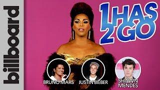 Video Bruno Mars, Justin Bieber, or Shawn Mendes? Shangela Plays 1 Has 2 Go!   Billboard download MP3, 3GP, MP4, WEBM, AVI, FLV Maret 2018