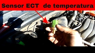 Como Cambiar Sensor De Temperatura ECT. AUDI 99-2003 A4 A6 3.0 y  2.9