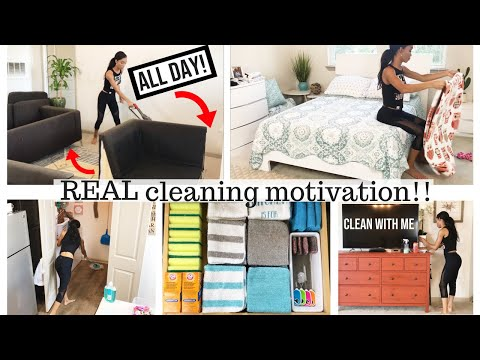 ALL DAY REAL CLEANING MOTIVATION // CLEAN WITH ME 2018 // CLEANING ROUTINE // SAHM