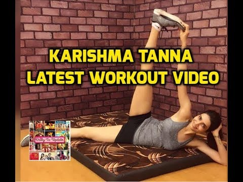 TV Actress Karishma Tanna Latest Workout Video | Karishma Tanna Intense Workout in Gym