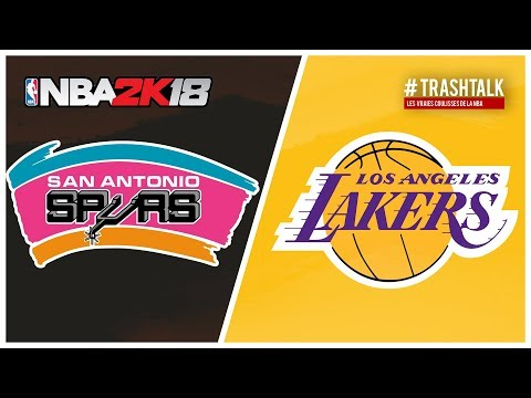 NBA 2k18 : San Antonio Spurs All Time vs Los Angeles Lakers All Time