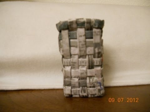 Recycle and storage project - Creating Basket with newspaper Part I