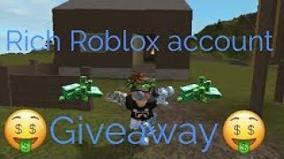 Rich Account Password! Free! (Robux Included) 2018
