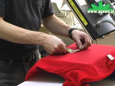 45d31b49e Kolorowa koszulka z nadrukiem - wykonanie nadruku - YouTube