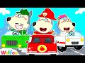Wolfoo Playing Professions with Cars: Fire Truck, Ambulance, and Garbage Truck | Wolfoo Channel