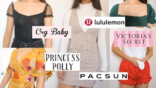 $1000 spring clothing haul 🤧 | Pacsun, Cry Baby, Princess Polly, VS PINK, Lululemon, Hollister