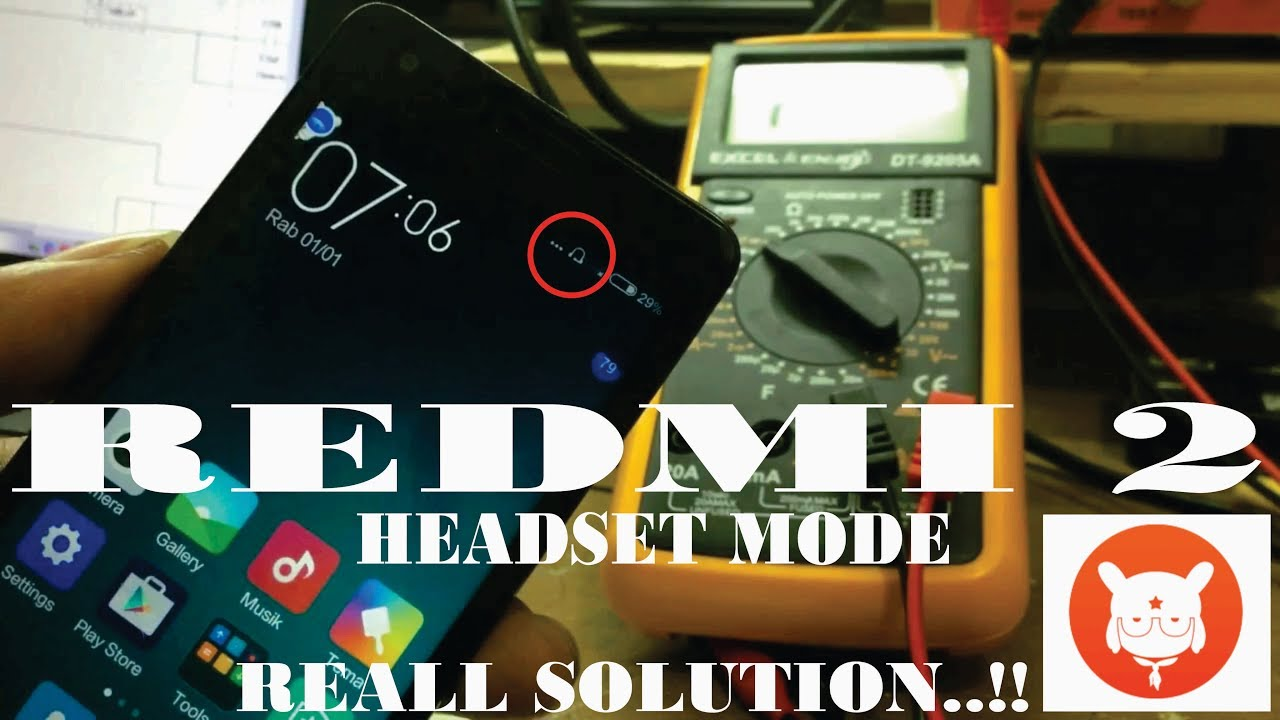 Solusi Xiaomi Redmi 2 Headset Mode Youtube