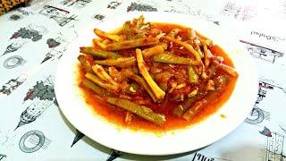 Турецкий муж на кухне / как турки готовят стручковую фасоль? /taze fasolye / Турецкая кухня