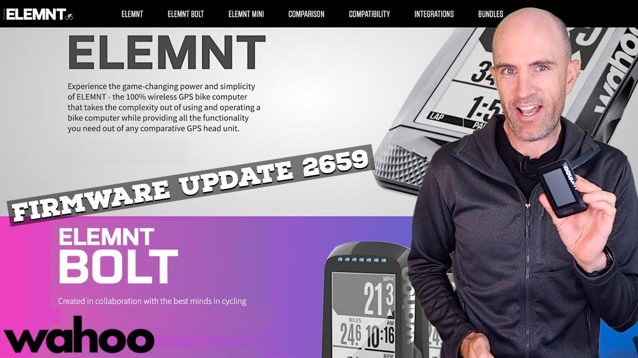 Wahoo ELEMNT//BOLT Firmware Update 2659 Features (April 2019)