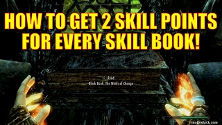 Skyrim Remastered - How to Get 2 Skill Points for Every Skill Book! (Black Book, Winds of Change)