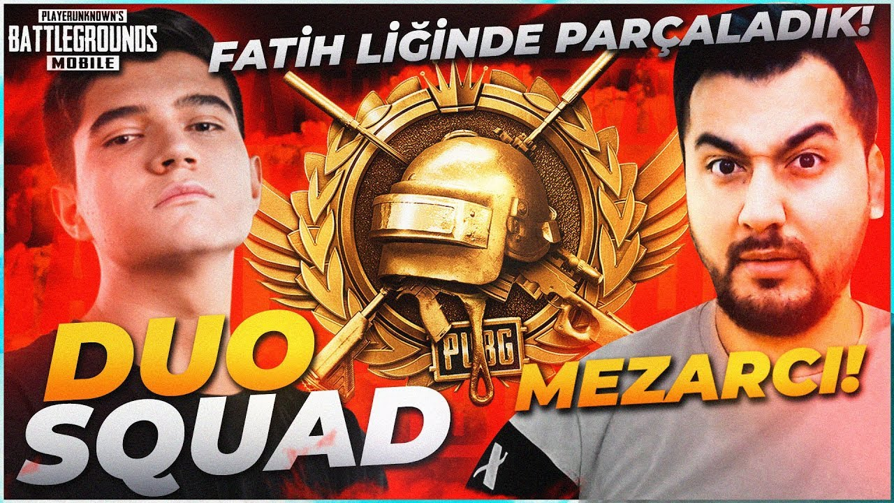 MEZARCI İLE DUO VS SQUAD FATİH LİGİNDE PARÇALADIK!! | PUBG Mobile Erangel Gameplay