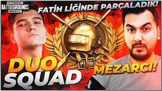 MEZARCI İLE DUO VS SQUAD FATİH LİGİNDE PARÇALADIK!!   PUBG Mobile Erangel Gameplay