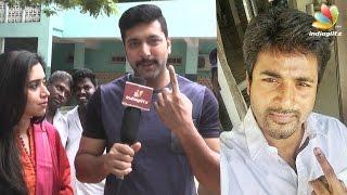 Sivakarthikeyan, Jeyam Ravi, Sneha and more celebs cast their vote | Tamil Nadu Election 2016