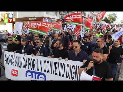 Los trabajadores de Acerinox protestan por un convenio digno